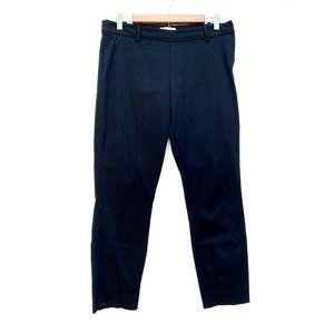 H&M Black Straight Leg Cropped Business Pants
